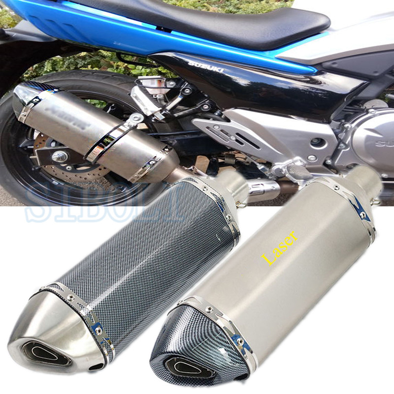 51MM 61MM Inner Universal Motorcycle Exhaust Pipe Muffler DIRT PIT BIKE SCOOTER Motobike Escape Moto CRF230 FZ6 ER6N CB400 AK112 51mm 61mm inlet motorcycle slip on exhaust escape moto stainless steel racing bike exhaust 600cc gy6 scooter dirt pit bike sc016