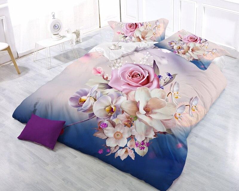 Textiles Para el hogar, Estilo Precioso Lily Queen Size Sistemas del Lecho 3D 4