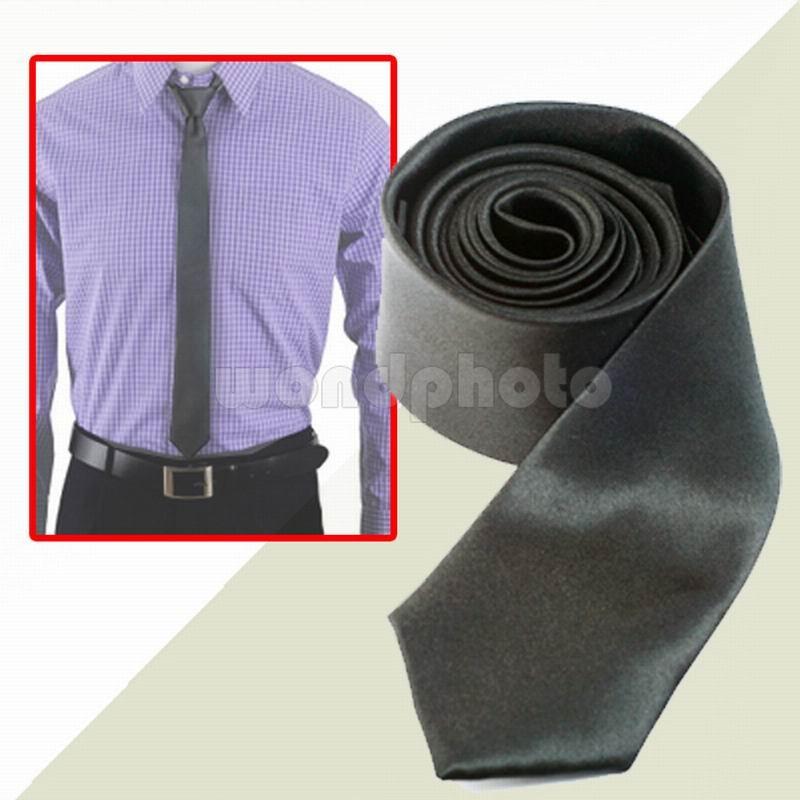 Brand New Fashion Polyester Black Men Women Skinny Slim Thin Narrow Neck Tie Necktie Business Wedding Free Shipping High Quality