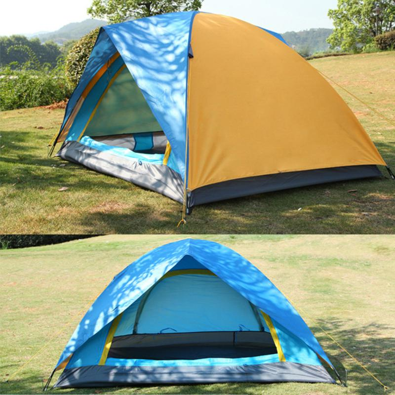 Windproof Waterproof Double Layer 2 person Tent Outdoor Hiking Camping Picnic Tent Professional Camp Tourist Tent Accessories 2 persons camping tent double layer outdoor waterproof tent for beach garden backyard picnic