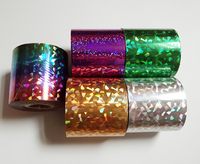 6cm 120M Wholesale 5kinds Nail Foil Stickers Star Style Art Polish Transfer Decal DIY Beauty Craft