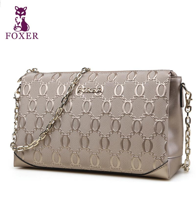 FOXER  Women bag New 2016 fashion shoulder Messenger bag embossed Chain bagFOXER  Women bag New 2016 fashion shoulder Messenger bag embossed Chain bag