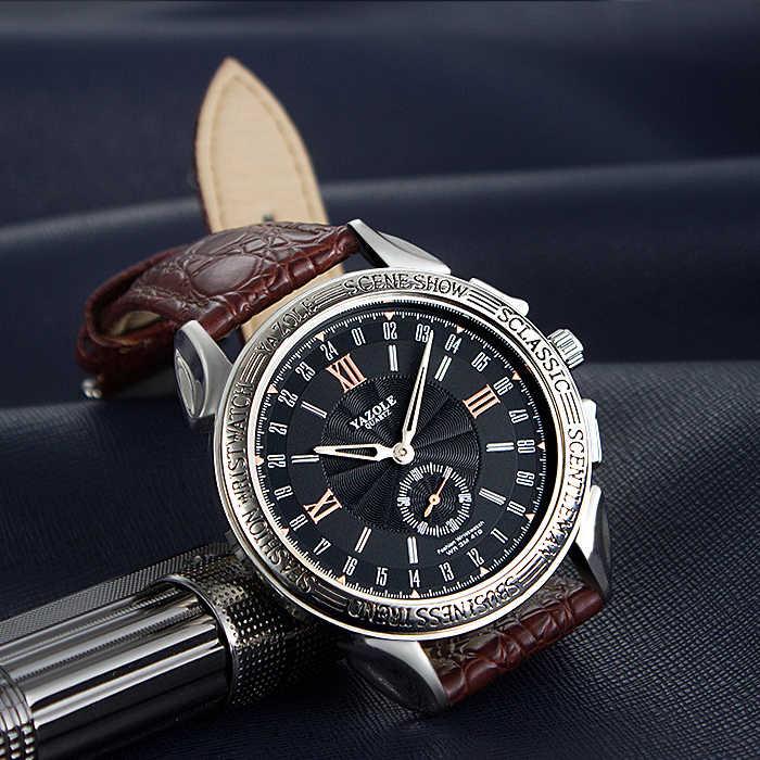 YAZOLE ビジネスクォーツ時計の男性トップブランドの高級有名な新腕時計男性時計男性腕時計 Relog レロジオ Masculino