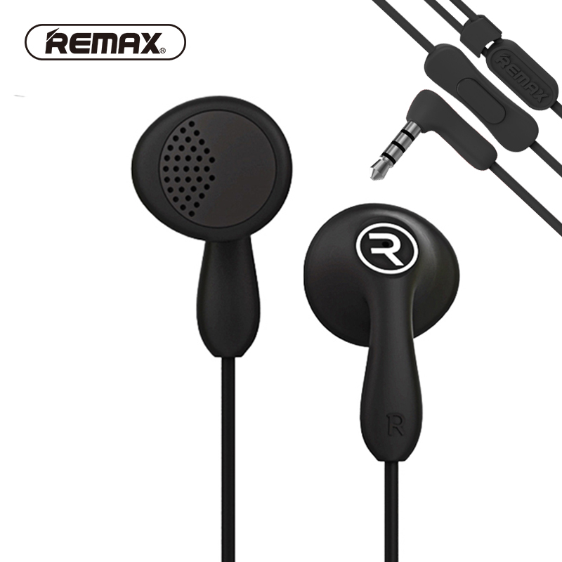 REMAX RM301 Wired Clear Earphone with mic Noise isolating Stereo High fidelity bass Headset Earbuds for phone fone de ouvido держатель remax rm c10 white turquose