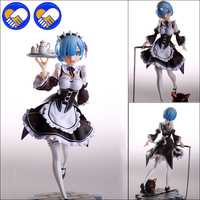 Re:Life in a different world from Zero Rem 1/6 Scale Painted PVC figure Servant Maid Girl Ver. Rem Action figure Toys Brinquedos