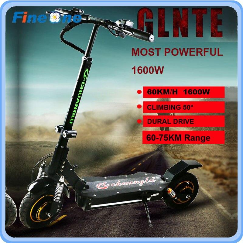 1600 W Güçlü Elektrikli Scooter Katlanır Kaykay Yetişkin - Bisiklet Sürmek - Fotoğraf 6