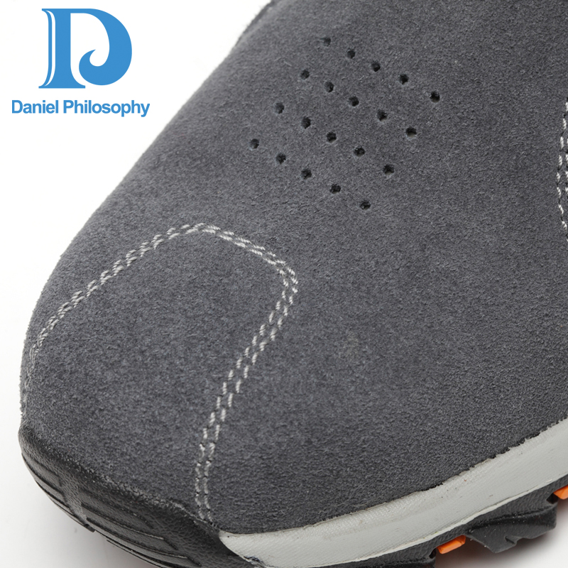 Ar Trabalho Gray Anti Prova Biqueira Ao slip Botas Aço Homens À Couro Livre Dos Da Calçados Segurança Sapatos Punção Vaca De Respirável Camurça xqRtBFw0gZ