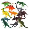 Happy Cherry Fun Toys for Children Boys Girls Gift High Simulation Soft Plastic 12 Mixed Dinosaur Toy Model