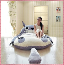 5.6ft x 6.6ft Totoro bed Japanese tatami sofa bed animal king bed hot selling