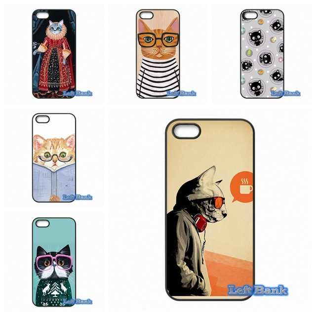 Pro Kawaii Hipster Cat Wallpaper Pattern Phone Cases Cover For