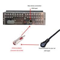 자동차 스타일링 유니버설 레드 ISO DIN 남성 자동차 자동 라디오 스테레오 안테나 어댑터 공중 플러그 커넥터 어댑터 DIN 차량에