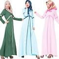 Peru Abaya vestido Dos Muçulmanos vestuário Islâmico Turco mulheres Splice Lady Vestidos longos Vestidos jilbabs e abayas robe musulmane