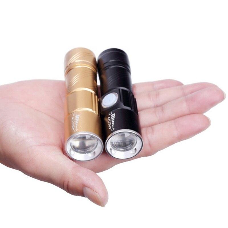Lanternas e Lanternas recarregável tocha usb bicicleta luz Material do Corpo : Liga de Alumínio