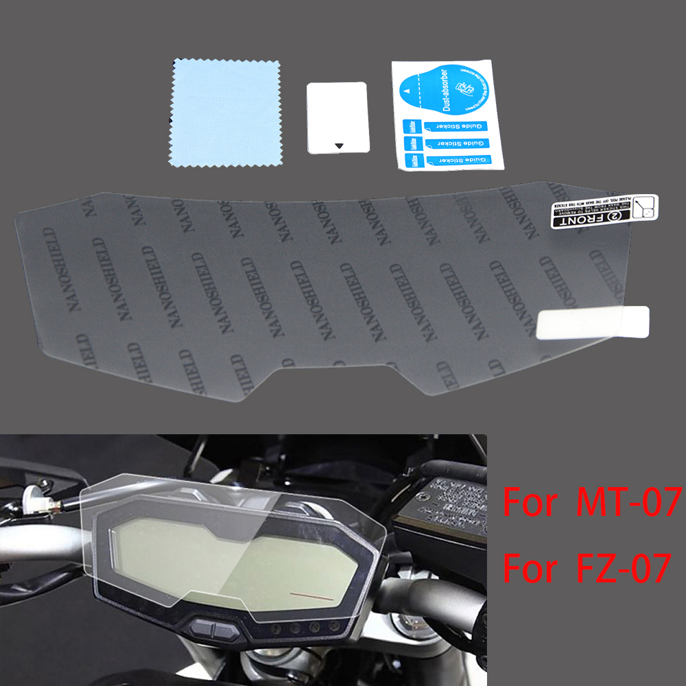 New Moto Accessories Cluster Scratch Cluster Screen Protection Film Protector For Yamaha MT07 MT 07 MT-07 FZ07 FZ 07 FZ-07 image