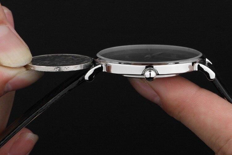 SINOBI ультра тонкий классический Повседневное кварцевые наручные часы Для мужчин Busness Марка Кожа Аналоговый Relojes HOMBRE подарок продажа Relogio Час...