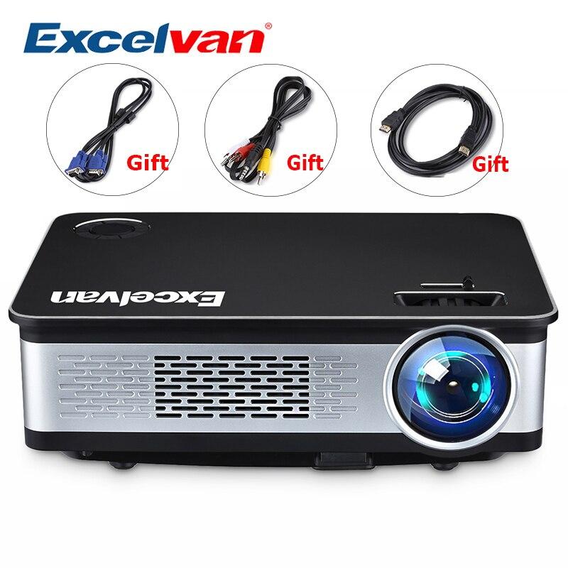Excelvan Z720 1280*768 3300 Lumens projecteur multimédia 1080 P Avec HDMI VGA USB * 2 AV Interface Pour La Maison jeu En Plein Air En Métal Shell