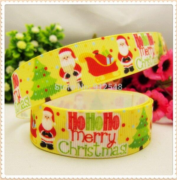 1 ''(25 мм) Рождественская, Печать оленей Grosgrain ленты из полиэстера, с рисунком, с тесьмой и аксессуар в стиле «haribow» подарочная упаковка, md71416 - Цвет: 9