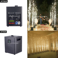 (4lot/CASE)Stage equipement Indoor Cold Flame Pyrotechnic Machine Stage Fountains Ignition System Remote fireworks flight case