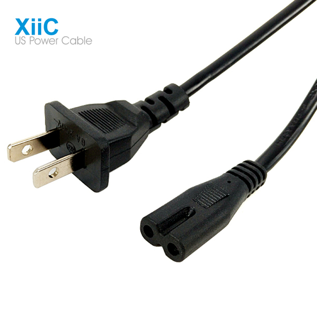 12m 4ft US Plug American Standard Power Supply Cable 2 Prong Hole Cord For Laptop Tablet Adapter Fit CA BZ MX