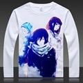 Noragami Yato Yukine Completa T Shirt de Impresión de Manga Larga Tops Camisetas Otoño Primavera Iki Hiyori Tees Ropa