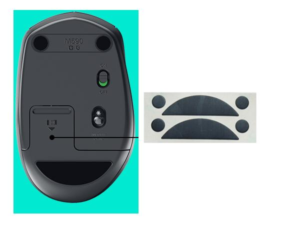 Pack Of 2 Mouse Feet Skates Mouse Pads Legs For Logitech M337 M590 M585
