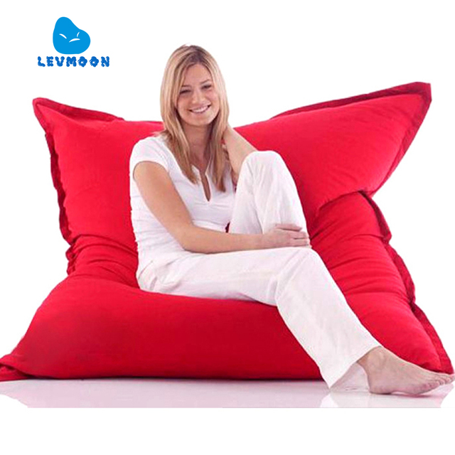 LEVMOON Beanbag Sofa Magic Seat Zac Shell Comfort Bean Bag Bed Cover  Without Filler Micro