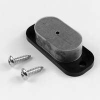 25LB Rating Multiple Gun Magnet Concealed Gun Holder With Anti Scratch Cap And Screws