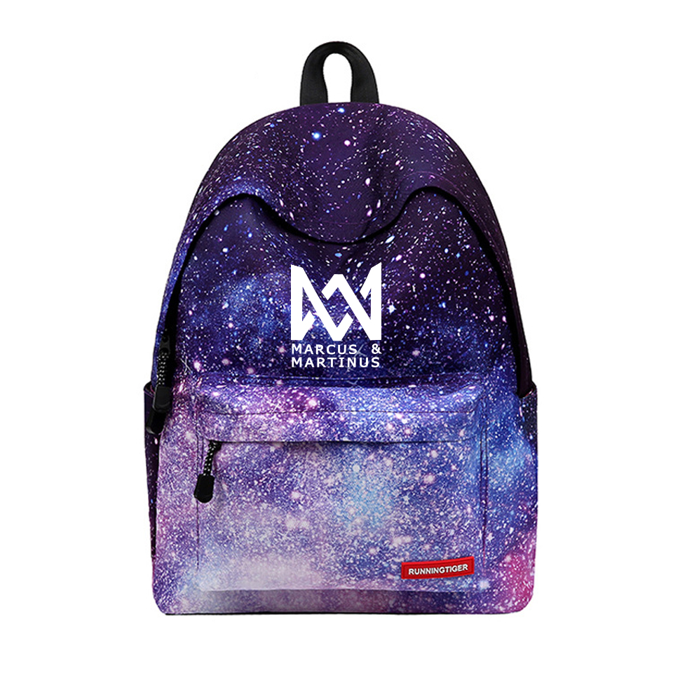 Marcus And Martinus Backpack New arrival Printing Women mochila Star Laptop bags travel kids school bag For Galaxy Backpacks цена