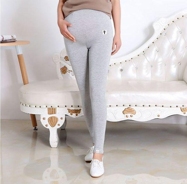 Cintura alta Da Maternidade Leggings Para Gestantes Outono Plus Size Maternidade Calças de Maternidade de Algodão Macio Leggings Calças