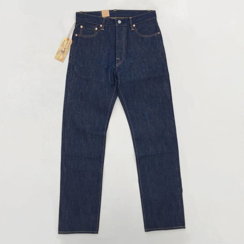 Denim Pants Jean Selvage Vintage Blue Men's Winter Straight UNWASHED BOB DONG for Autumn title=