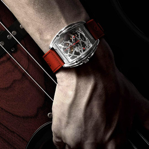 Image 3 - Youpin ciga z シリーズ中空アウト機械式腕時計腕時計シリカゲルファッション高級自動革リストバンドギフト