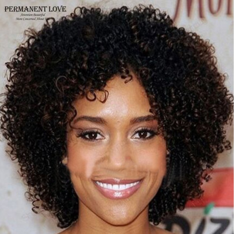 short haircuts for black naturally curly hair american curly wigs synthetic wigs for black 5171 | African american short curly wigs synthetic wigs for black women kinky curly hair wigs natural black