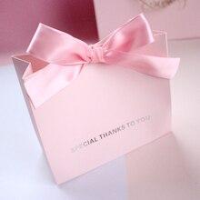 10pcs Free shipping High-end Ribbon gift bag Simple candy bag Wedding gift wedding candy Box gift paper bag wedding gift
