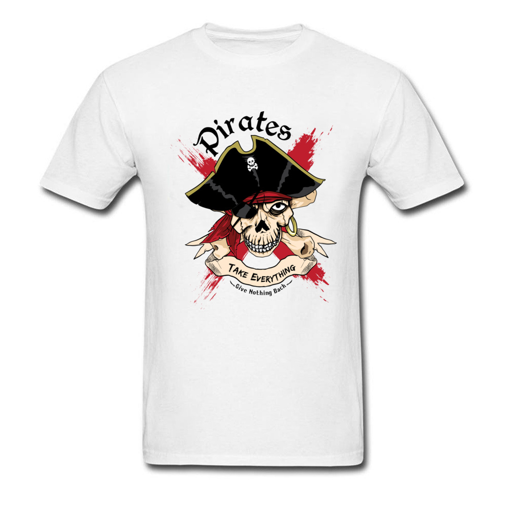 Family PIRATE Normal Short Sleeve T Shirt Lovers Day O-Neck Cotton Fabric Tops T Shirt for Boys T Shirt Casual PIRATE white