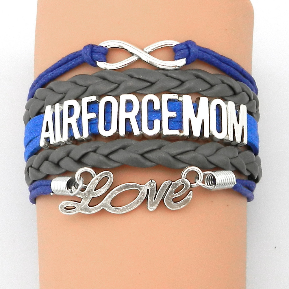 2016 hot drop shipping infinity love air force mom for Drop shipping jewelry business