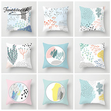 Fuwatacchi Floral Printed Cushion Cover Simple Line Round Plant Pillows Cover Home Sofa Car Decorative Polyester Pillowcase цены