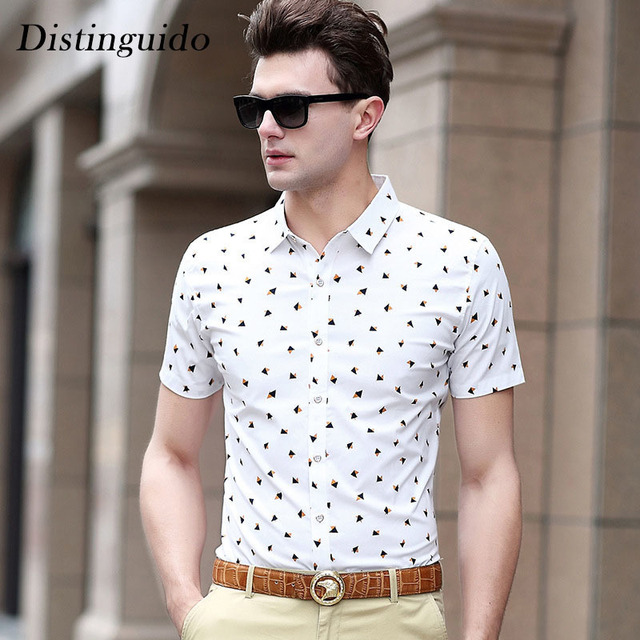 f4ca05170e81 Hot Sell Short Sleeves Turn-Down Collar Men s Shirt Print Smart Casual  Summer Beach Clothes For Man Drop Shipping MST128