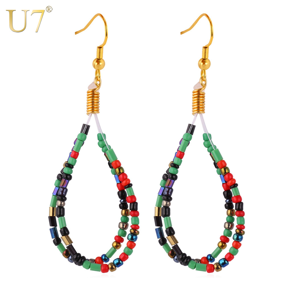U7 Coral Earrings Wanita Drop Earrings Trendy Fashion Perhiasan Grosir  Afrika Coral Beads Earrings E743 731faececa