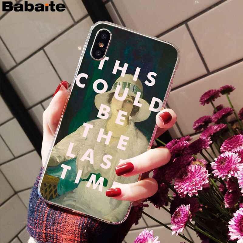 Babaite ünlü klasik sanat tırnaklar desen Coque kabuk telefon kılıfı Apple iPhone 8 7 6 6S artı X XS MAX 5 5S SE XR mobil kapak