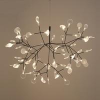 Modern Heracleum Tree Leaf Pendant Light LED Lamp Suspension Lamps Living Room Art Bar Iron Restaurant Home Lighting AL127
