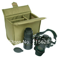 Waterpoof Folding Partition Padded DSLR Camera liner Bag SLR photo Shockproof Protection lens Case for Cannon Nikon Sony