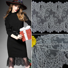 ZOTOONE 36*300cm Black White Lace Fabric DIY Crafts Sewing Suppies Decoration Accessories for Garments Elastic Trim E