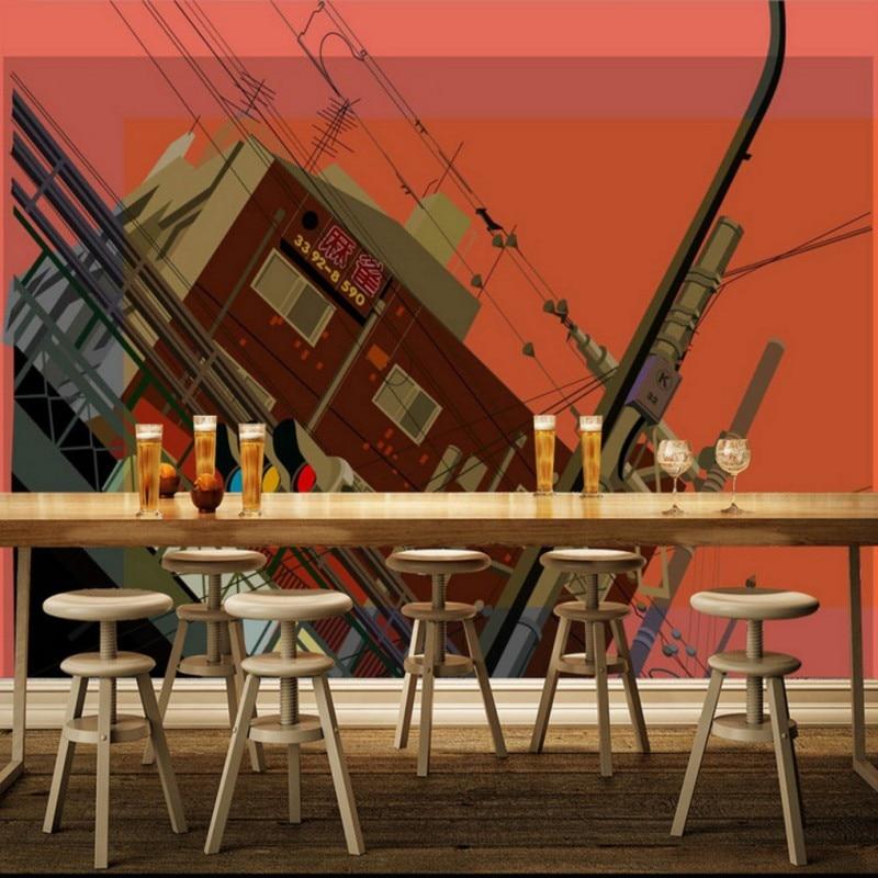 Custom photo wallpaper Custom Bar KTV personalized light traffic street Background Wallpaper restaurant studio cafe mural