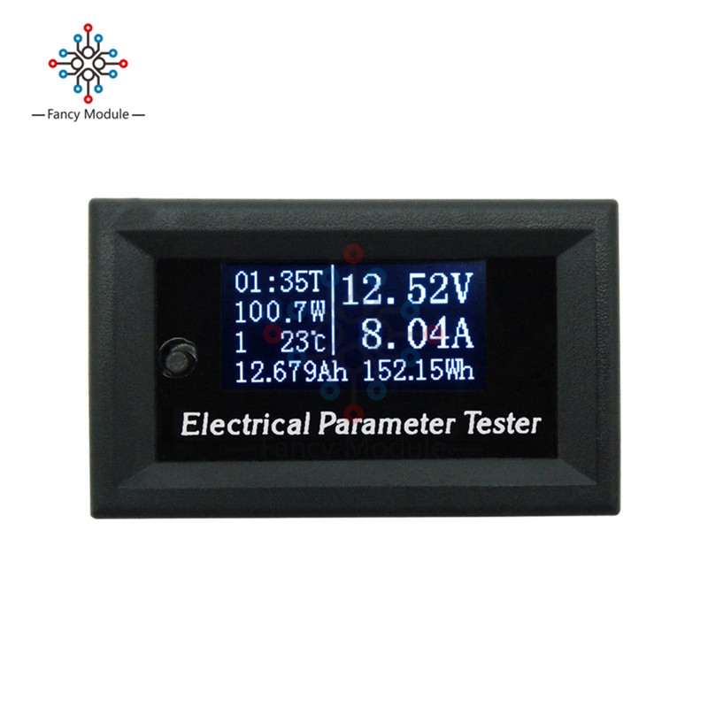 7 In 1 Multifunctional Power Meter Electrical Parameter Meter OLED Voltage Current Time Power Energy Capacity Temperature Tester