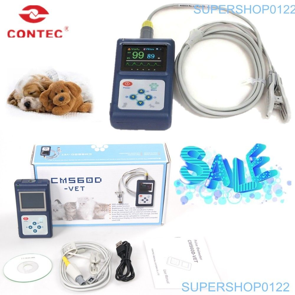 все цены на CE FDA CMS60D-VET Animal Using Pulse Oximeter Vet Probe OLED SPO2 PR Monitor USB SW New contec онлайн