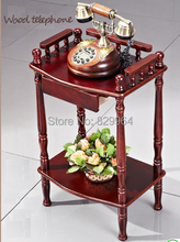 New Promoter of classical solid wood dining car wooeden dining car carts wood table Telephone stand
