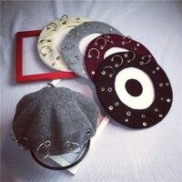 DT642 Fashion Solid Color Warm Wool Spring Autum Winter Beret Women French Artist Beanie Beret Hat