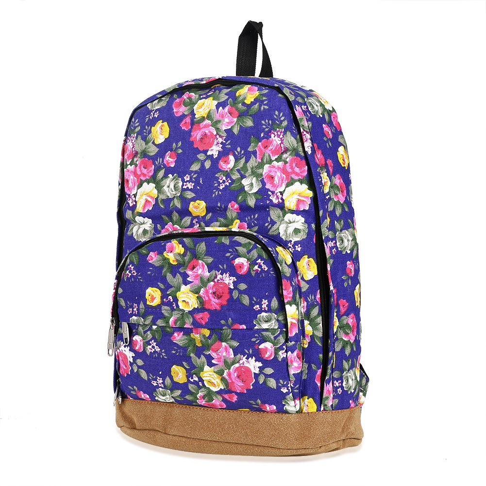 Women Floral Printing Backpacks for Women and Men Rucksack Fashion Canvas Bags Retro Casual School Bags Travel Bags