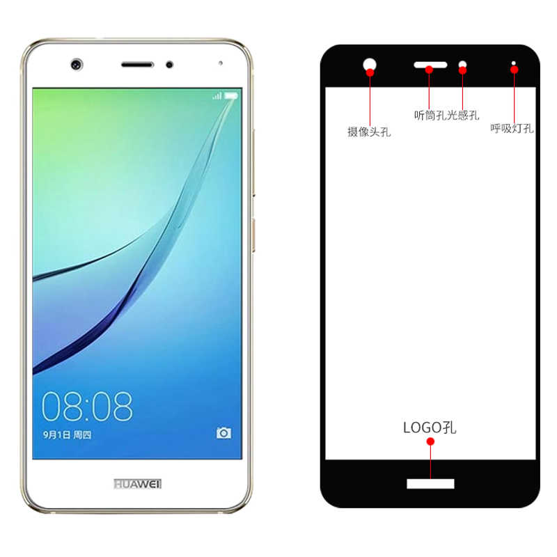 Full Cover Screen Protector For Huawei P10 Lite Plus P9 P8 Lite 2017 V9 V8 Tempered Glass for Honor 8 Lite 6X Cover Protect