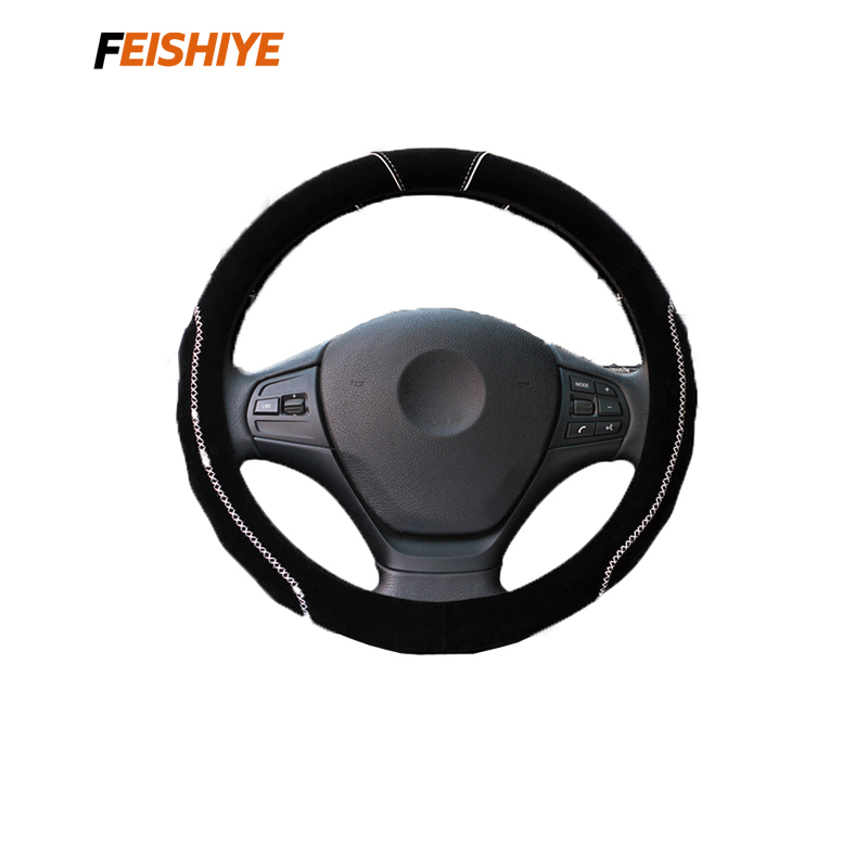FEISHIYE ISO9001 Steering Wheel Cover Feel Comfortable Wheel Cover Steering Wheels & Steering Wheel Hubs Top Quality Stitching